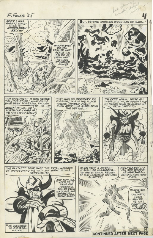 Fantastic Four 35 Page 4 by Jack Kirby, Chic Stone - Comic Strip