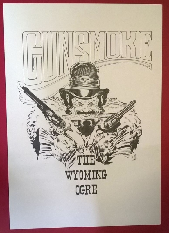 For sale - Gunsmoke the Wyoming Ogre by Dimitri Armand - Illustration