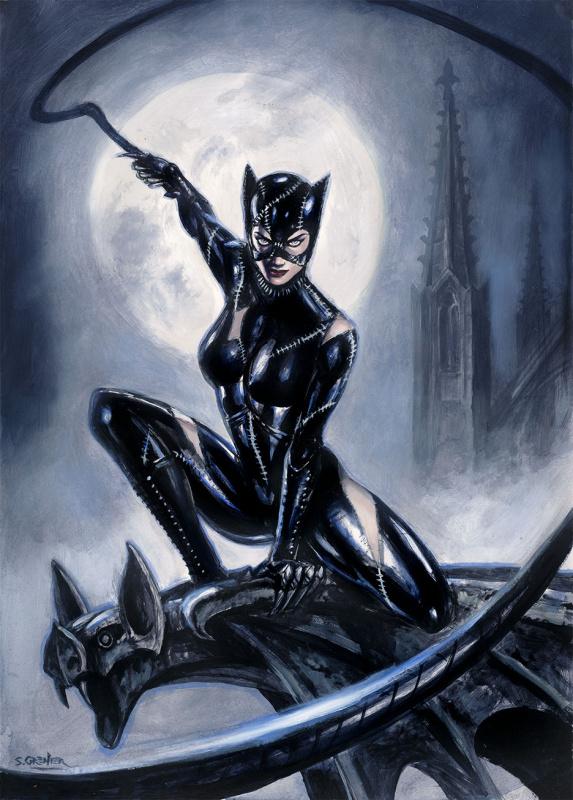 Catwoman Par Grenier Par Sébastien Grenier Illustration