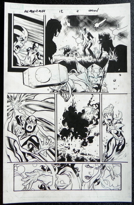 All new x-men #12 page 9 by Stuart Immonen, Wade Von Grawbadger - Comic Strip