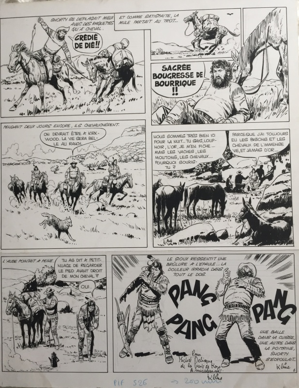 Loup-Noir by Kline, Jean Ollivier - Comic Strip