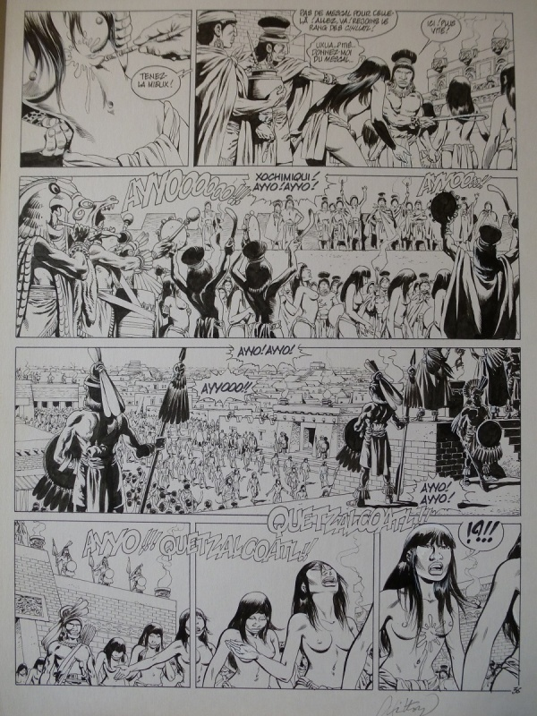 Quetzalcoatl tome 2 planche 36 by Jean-Yves Mitton - Comic Strip