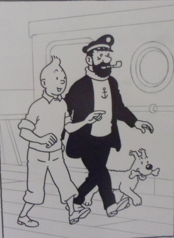 Tintin et Le Capitaine Haddock by Studios Hergé - Illustration