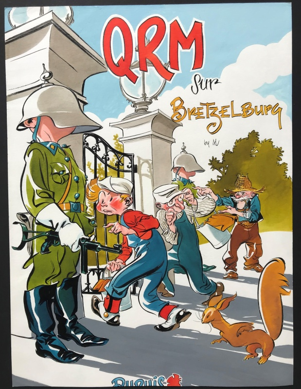 2010 - Spirou - QRM Sur Bretzelburg by Al Severin - Illustration