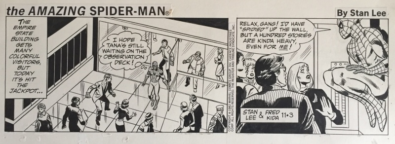 Fred Kida, Stan Lee, The Amazing Spider-Man, Daily Strip, novembre 1982 by Fred Kida, Stan Lee - Comic Strip