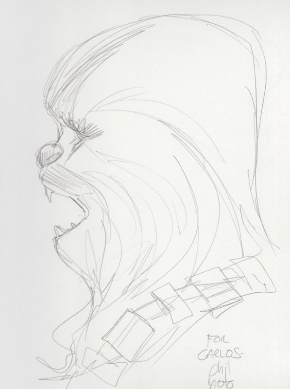 Chewbacca. Star Wars. by Phil Noto - Original art