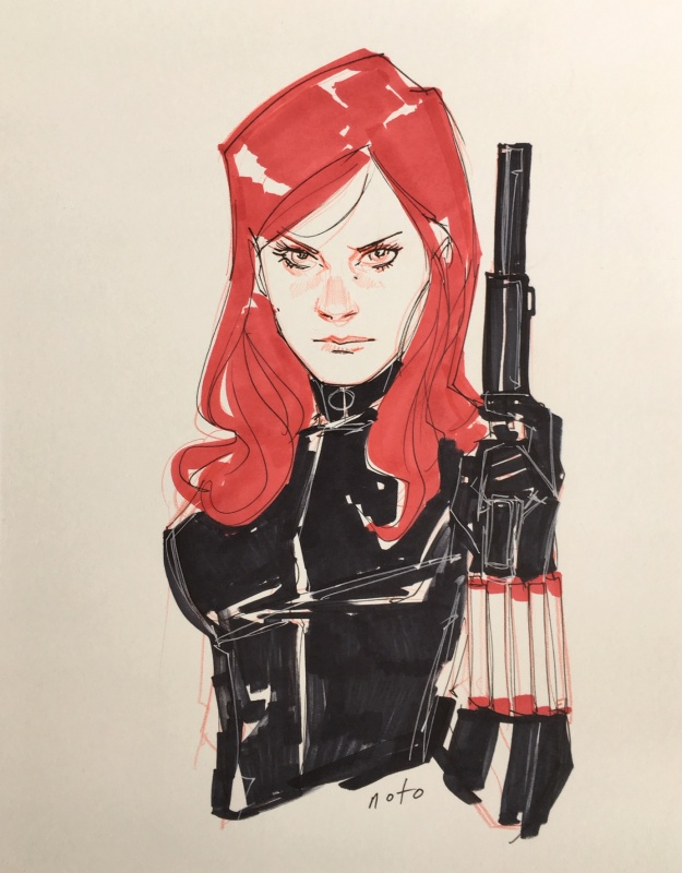 Black Widow by Phil Noto - Illustration