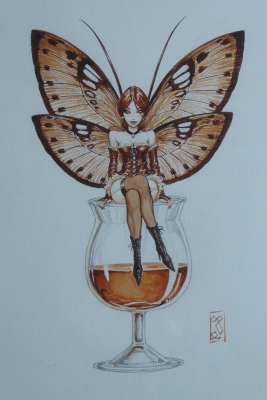 La fée whisky by Olivier Ledroit - Illustration