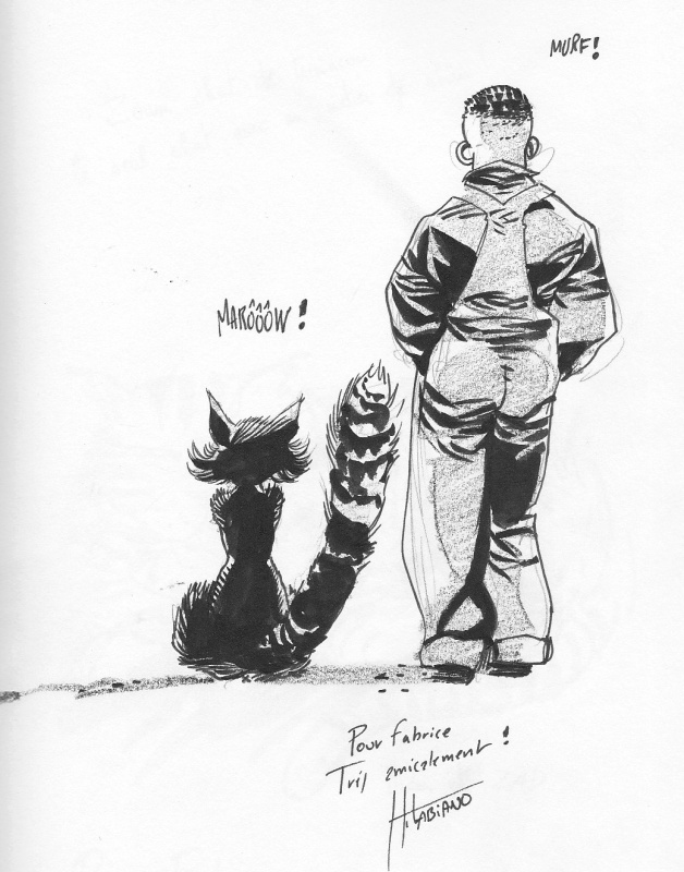 Chat de Dixie Road by Hugues Labiano - Sketch