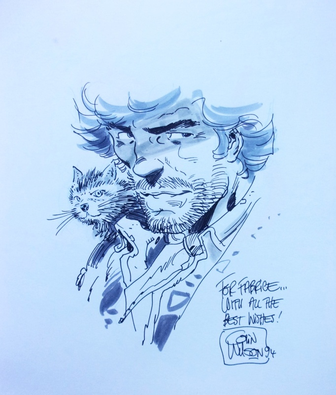 Blueberry et son chat by Colin Wilson - Sketch