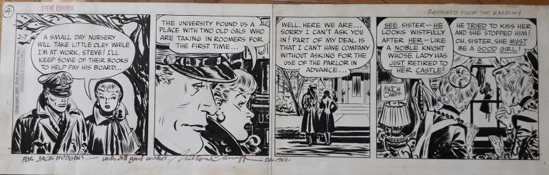 Steve Canyon - Reviewed from the  balcony by Milton Caniff - Comic Strip