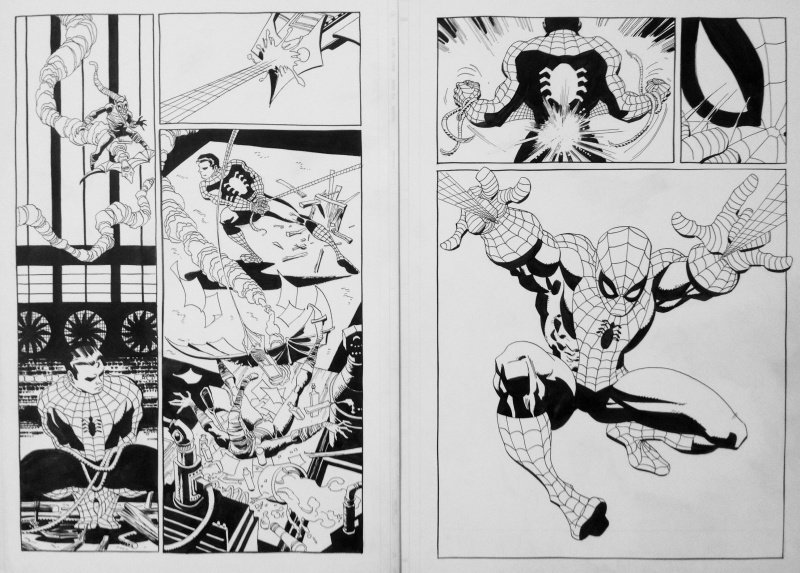 Spider-Man : Blue #1 pages 9 & 10 by Tim Sale - Comic Strip