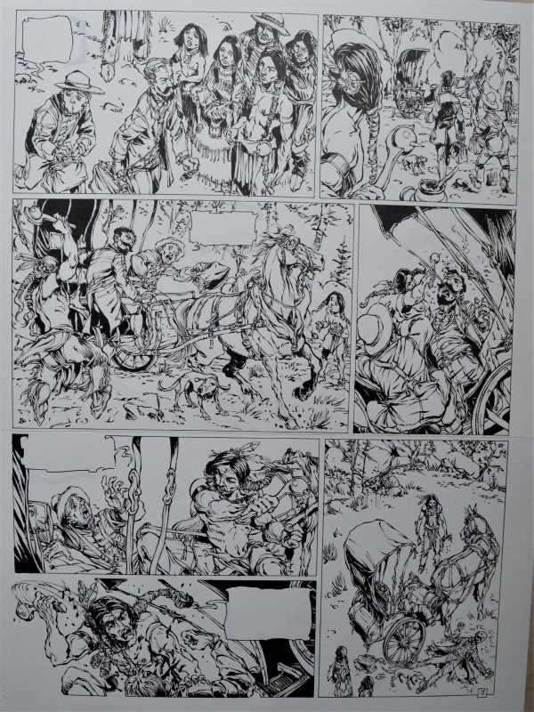 For sale - La piste des ombres tome 1 planche 7 by Tiburce Oger - Comic Strip