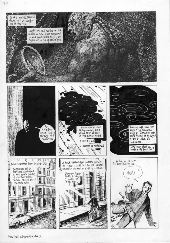 From Hell page by Eddie Campbell, Alan Moore - Comic Strip