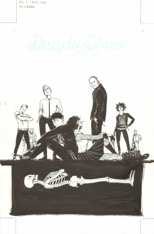 Craig: Deadly Class 1 cover by Wesley Craig - Original Cover