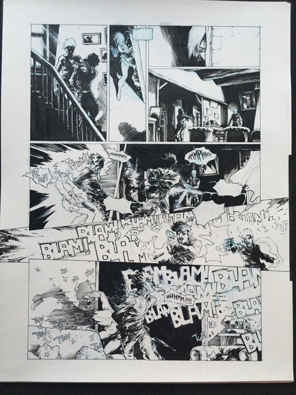 For sale - Sept Cannibales Original planche by Tirso Cons - Comic Strip