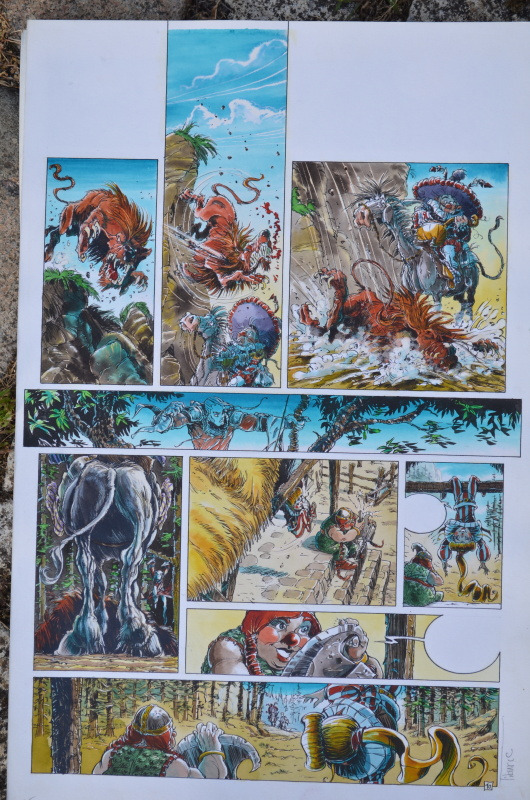 For sale - Gorn tome 3 planche 10 by Tiburce Oger - Comic Strip