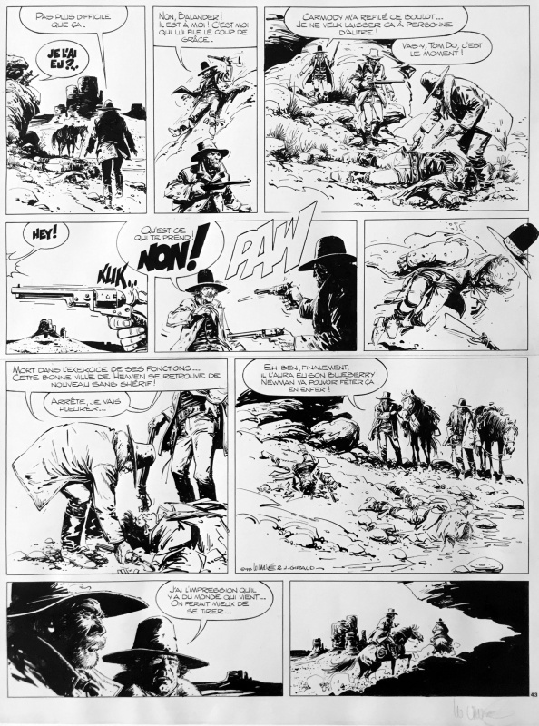 Marshal Blueberry Vance by William Vance, Pétra, Jean Giraud - Comic Strip