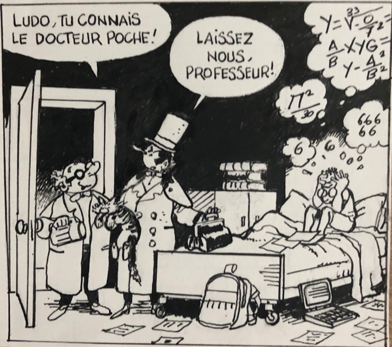 Case originale de Docteur Poche by Marc Wasterlain - Comic Strip