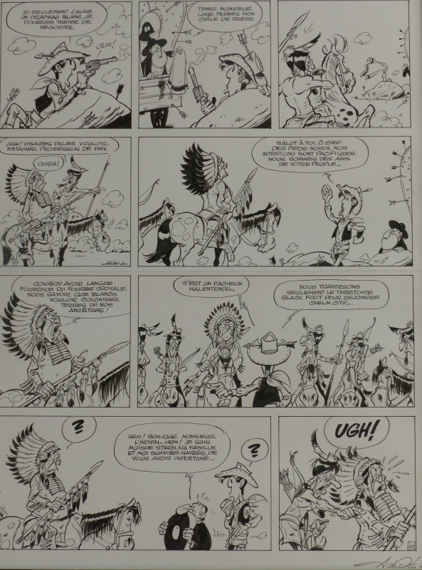 Planche originale page 42 la terre promise by Achdé - Comic Strip