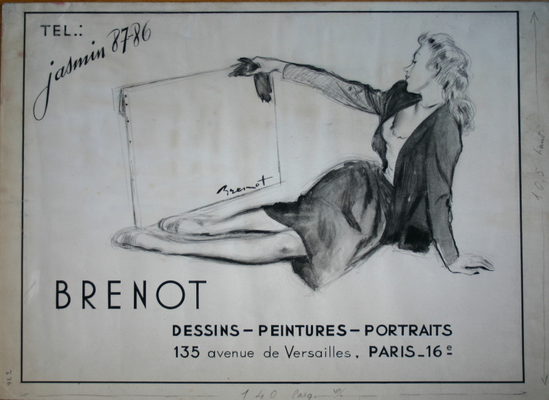 For sale - Pierre Laurent Brenot - Jasmin 87-86 by Pierre-Laurent Brenot - Illustration