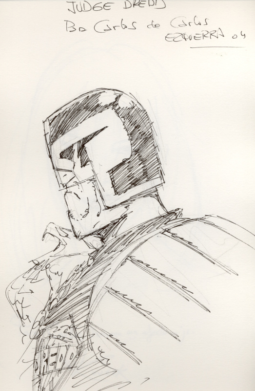 Judge Dredd by Carlos Ezquerra - Original art