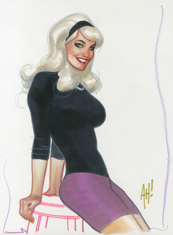 Adam Hughes - Gwen Stacy by Adam Hughes - Illustration