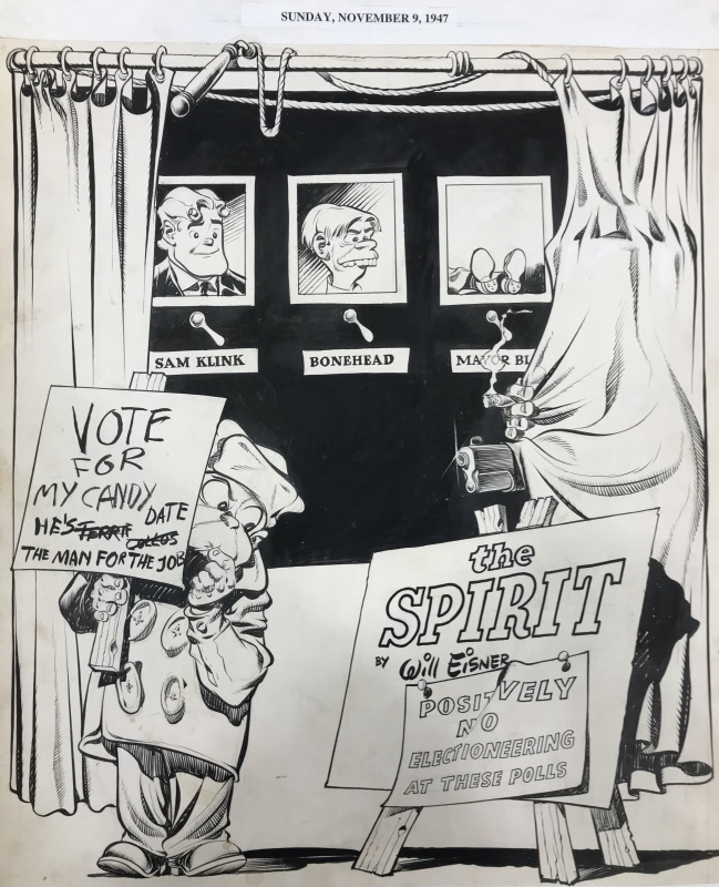 Mr Bowser's Election p1 by Will Eisner - Comic Strip