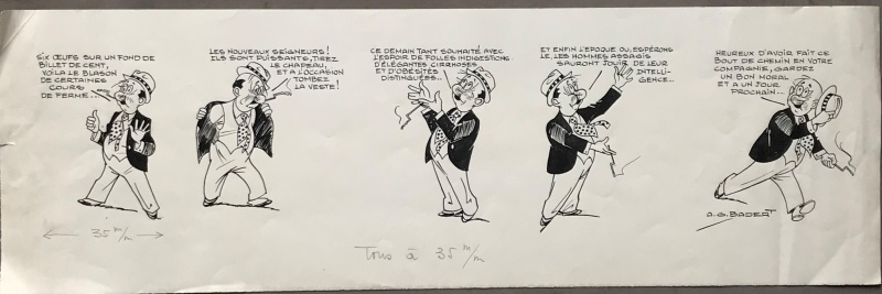 Strip original by Albert Georges Badert - Comic Strip