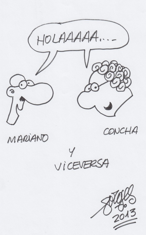 Concha & Mariano by Forges - Original art
