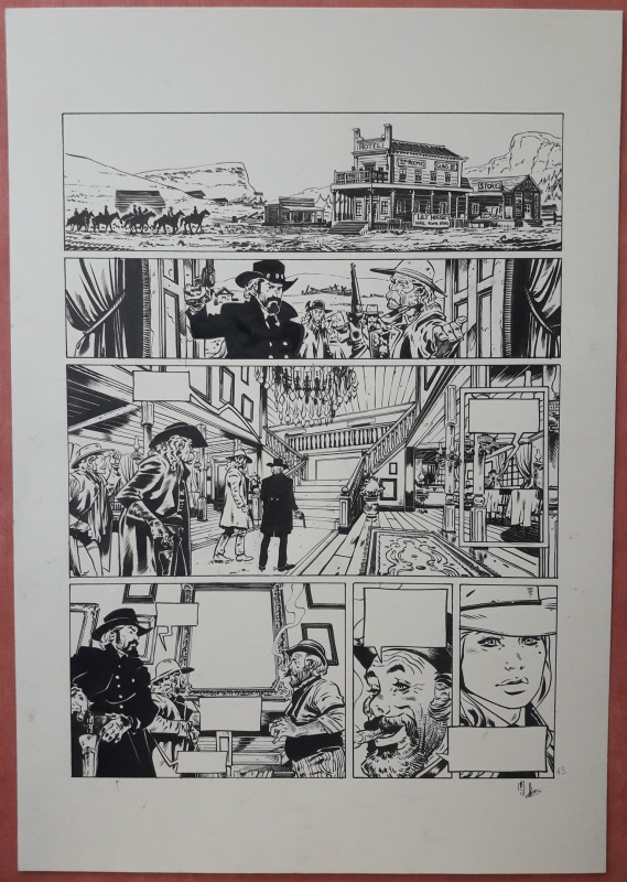 For sale - Texas Jack - Planche 63 by Dimitri Armand - Comic Strip
