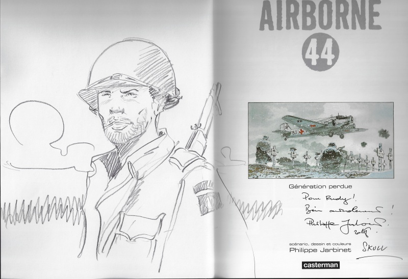 Airborne 44 -  Dédicace by Philippe Jarbinet - Sketch