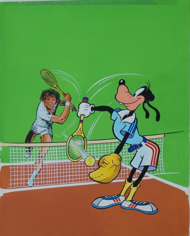 For sale - Dingo vs Yannick Noah by Studios Disney - Illustration