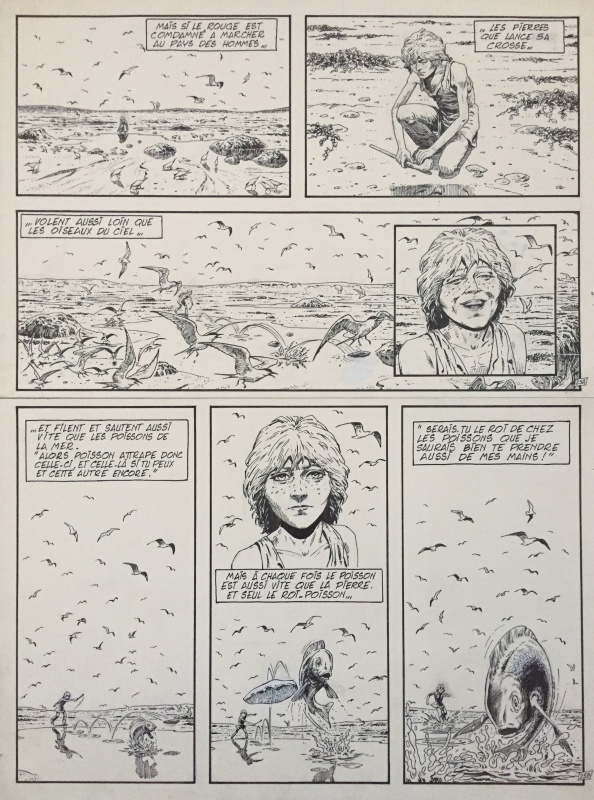 Auclair, Bran Ruz, chapitre 3 : le roi-poisson, planche n°25, 1978. by Claude Auclair, Alain Deschamps - Comic Strip