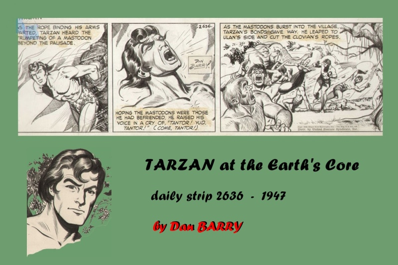 Dan BARRY - TARZAN daily strip 2636 - 1948 by Dan Barry - Comic Strip