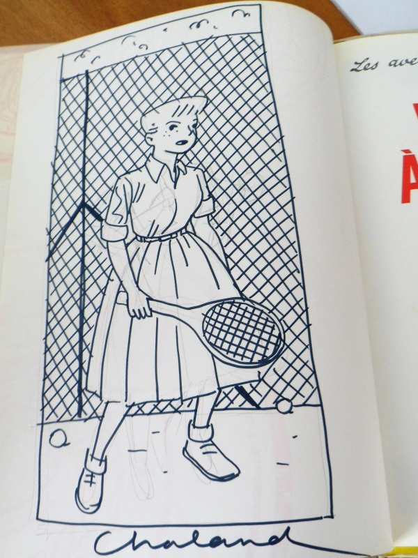 Dina au tennis by Yves Chaland - Sketch