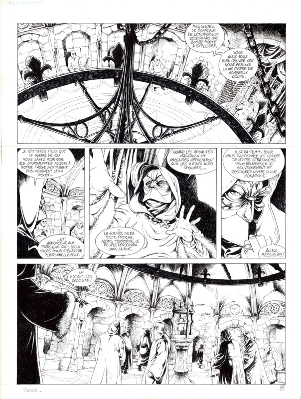 For sale - Planche originale Le destin des Algo-Berang p10 by Claude Pelet - Comic Strip