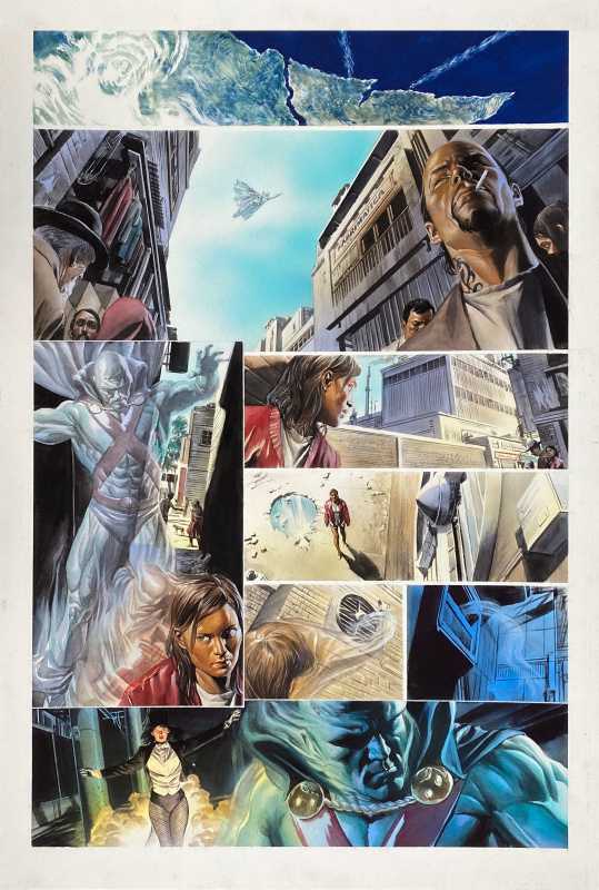 Justice  chapter seven p.01 by Alex Ross - Comic Strip