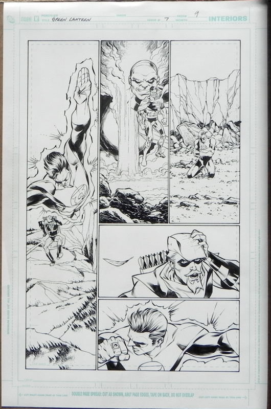 Green lantern 7 p.9 by Carlos Pacheco, Jesus Merino - Comic Strip