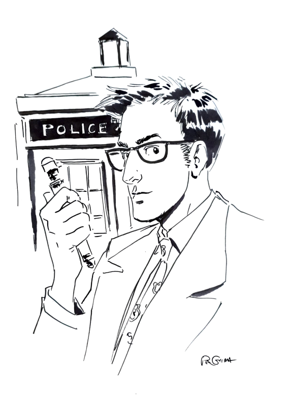 Doctor who, 10th Doctor by Pia Guerra - Sketch