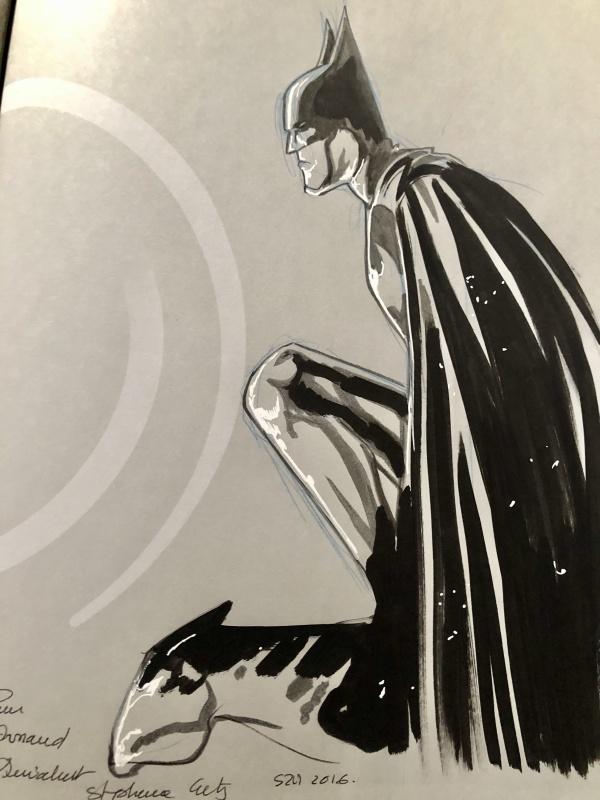 Batman Par Stephane Crety Dedicace