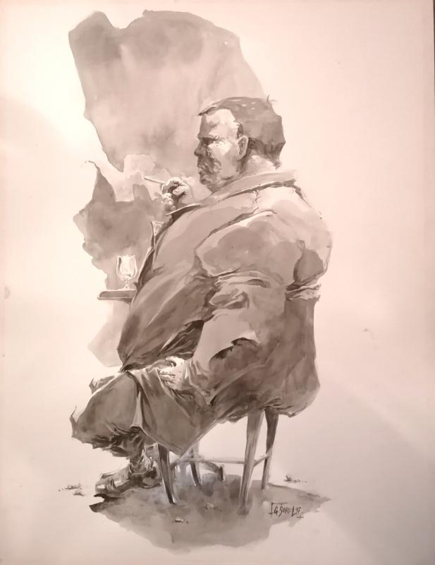 Assis par Guillaume Sorel - Illustration